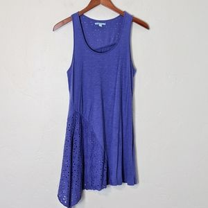 Anthropologie Handkerchief Eyelet Tank
